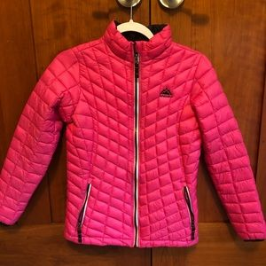 Snozu girls pink puffer coat